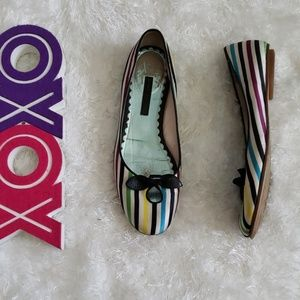 MARC JACOBS striped flats with bow